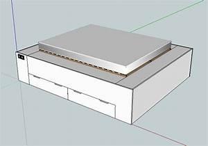 Lit Double Avec Tiroir : commande de lit double avec tiroirs ~ Teatrodelosmanantiales.com Idées de Décoration