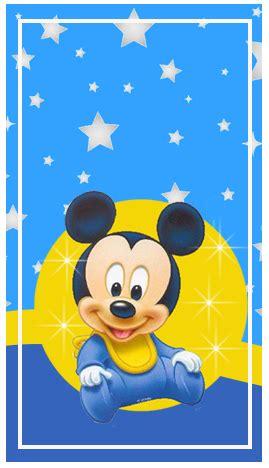 foto de Kit imprimible candy bar Mickey Bebe Estrellitas para