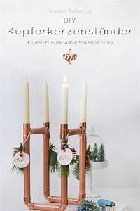 Ideen Für Kerzenständer : diy video kupferkerzenst nder adventskranz last minute sch nes f r weihnachten deko ~ Orissabook.com Haus und Dekorationen