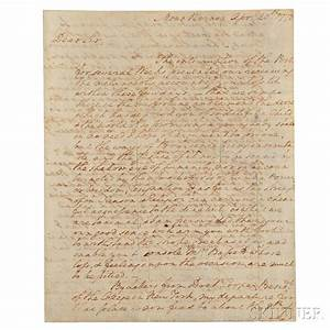 george washington skinner auctioneers With autograph letters