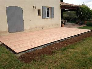 Installer Une Terrasse En Bois : installation d 39 une terrasse en bois eguilles terraplant ~ Farleysfitness.com Idées de Décoration