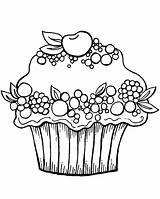 Cupcake Coloring Cupcakes Ausmalbilder Coloriage Printable Kleurplaten Dessin Muffin Sup Kleurplaat Ausmalbild Malvorlagen Noir Animaatjes Fruit Zum Nouveau Printables Blanc sketch template