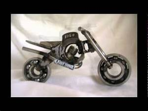 motos de adorno artesanales realizadas con chatarra YouTube