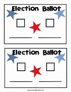 election day in the classroom inspired in style With election ballots template