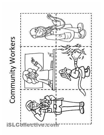 Worksheet Community Workers Kindergarten Worksheets Places Jobs
