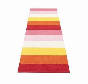 Teppich Bunt Gestreift : pappelina molly kunststoff teppich outdoor teppich 70 x 200 cm ~ Frokenaadalensverden.com Haus und Dekorationen