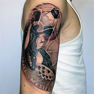 Goal With Shoes And Soccerball Mens Themed Half Sleeve ...