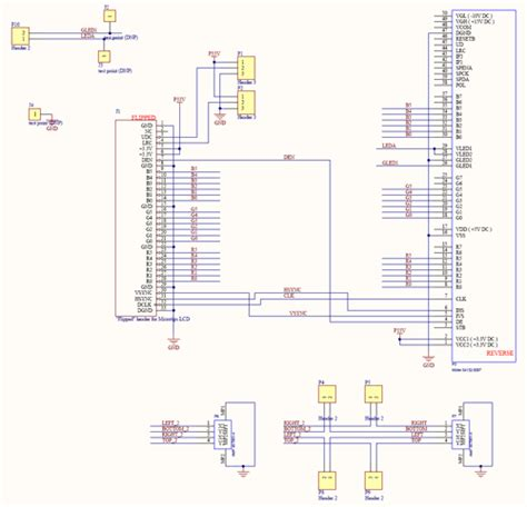 Electrical Wiring Diagram For A Laptop by Circuit Diagram Laptop Lcd Display To Vga Electronic