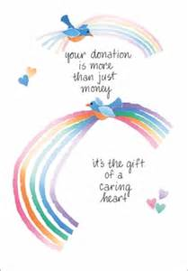 thank you cards for donations t302d
