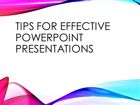 Tips For Effective Powerpoint Presentations  Ppt Video