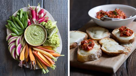 easy party appetizers crostini crudites and bacon wrapped dates today com