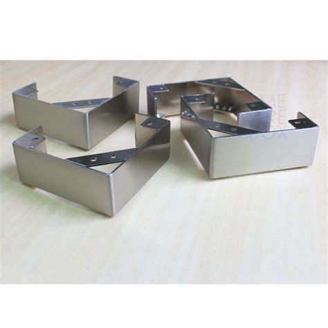 Sofa Metal Legs by 4 Pc L Shape Stainless Steel Legs Furniture Sofa Cabinet