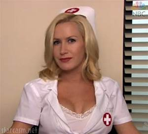 PHOTOS VIDEO Angela as a sexy nurse from The Officeu0026#39;s Halloween costume contest