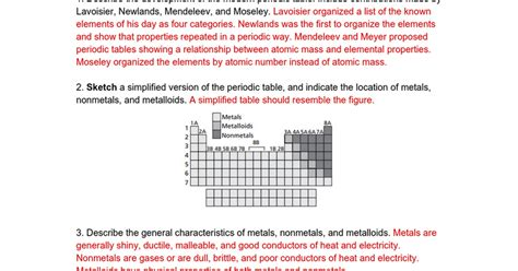 Explain Any Period Between by Describe Where The Metalloids Are Located On Periodic