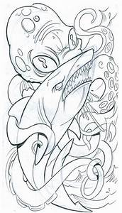 New School Octopus Drawing