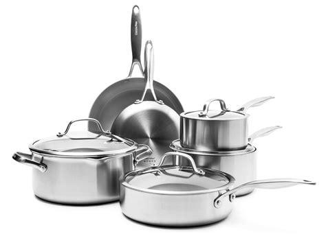 greenpan venice pro nonstick cookware set  piece