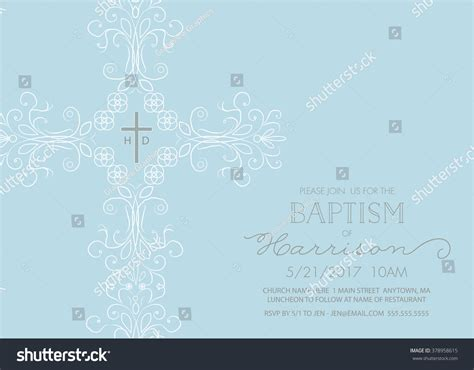 Baptism Christening First Holy Communion Invitation Stock