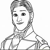 Coloring Prince Hans Frozen Pages Face Drawing Coloringpages101 Cartoon Pdf sketch template