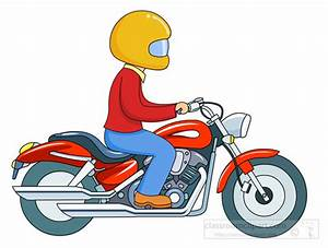 Biker clipart motorcycle rider - Pencil and in color biker ...