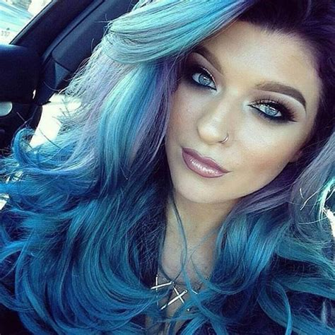 Hair Blue by 25 Insanely Awesome Ombre Hair Blue Purple