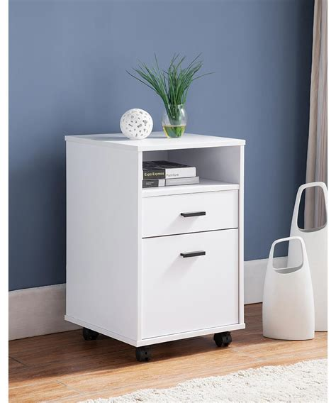 simply organized  drawer file cabinet  wheels white