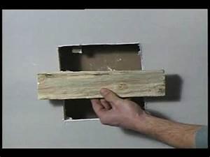 Reboucher Trou Mur Placo : gypse reparation youtube ~ Melissatoandfro.com Idées de Décoration
