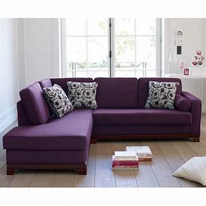 Canape d39angle a gauche convertible neuilly aubergine for Canapé d angle aubergine