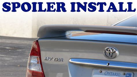 install  car spoiler youtube