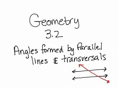 Parallel Angles Lines Geometry Formed Transversals