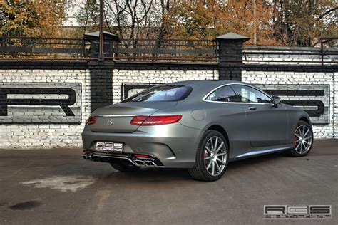 Mercedes S63 AMG Coupe Wrapped in Matte Gray by Re-Styling ...