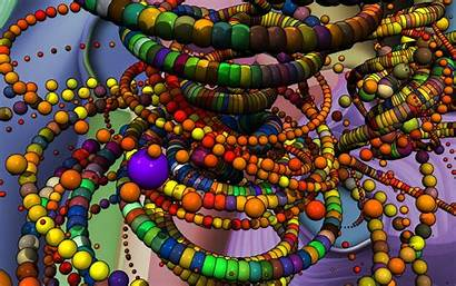 Abstract 3d Digital Colorful Sphere Ball Chains