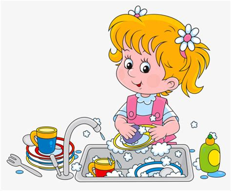 Washing Dishes Clipart Washing Dishes Child Png Image And