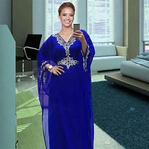 robe de soiree courte 2017 royal blue chiffon dubai kaftan With robe se soirée