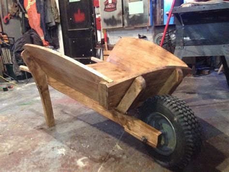 building  classic wooden wheelbarrow youtube