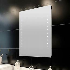 miroir de salle de bain avec eclairage led 60 x 80 achat With miroir salle de bain avec éclairage