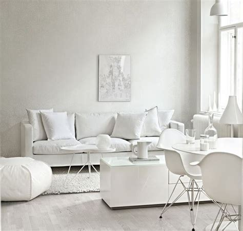 the all white living room