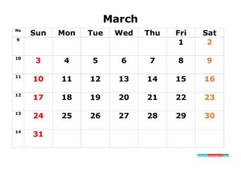 printable calendar template  monthly calendar