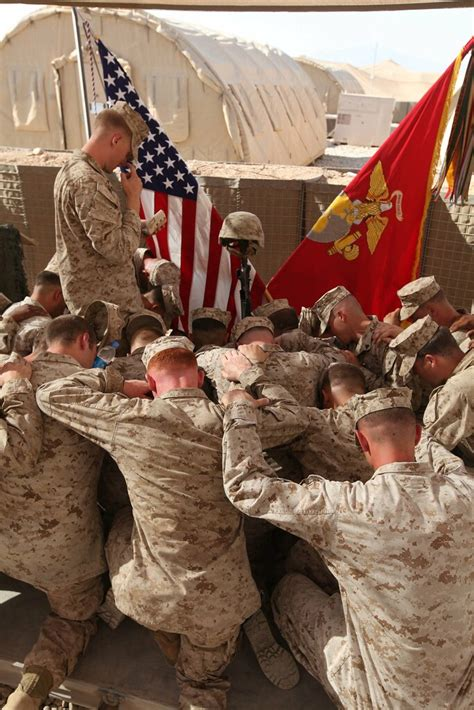 marines pray  fallen brother marines  cpl joshua