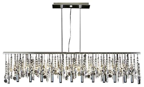 Modern Contemporary Broadway Linear Crystal Chandelier