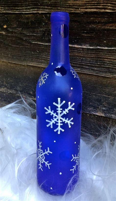 snowflake wine bottle decor cute classy