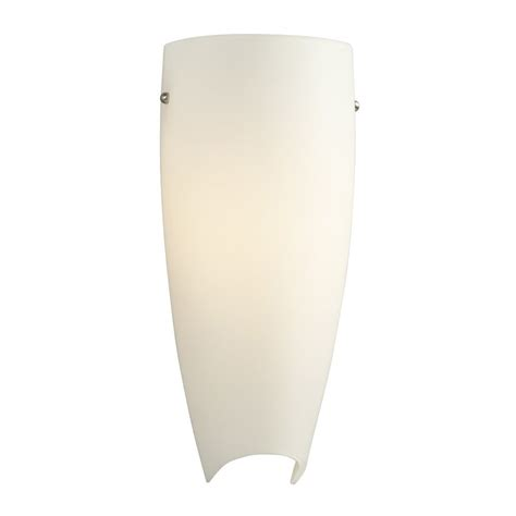 shop galaxy 5 75 in w 1 light brushed nickel pocket wall