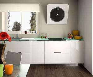 Plan De Travail 1m : cuisine quip e moderne blanc brillant ~ Melissatoandfro.com Idées de Décoration