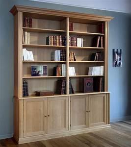 Meuble Bibliothèque Bois : meuble biblioth que guillaume meubles et boiseries ~ Teatrodelosmanantiales.com Idées de Décoration