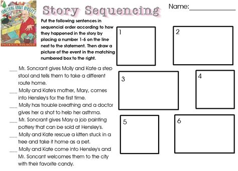 worksheets 4th grade 5 free printable sequencing