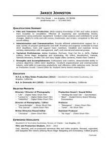 tv production intern resume careerperfect 174 academic skill conversion and television production sle resume
