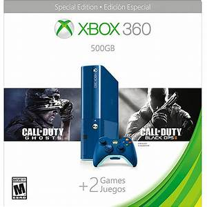 Xbox 360 500GB Special Edition Blue Console Bundle with ...