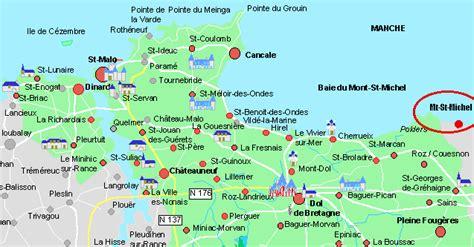 mont st michel carte infos sur carte mont michel et ses environs arts et voyages