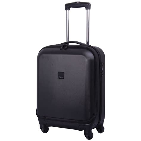 cabin luggage 4 wheels tripp black lite 4 wheel dual access cabin suitcase