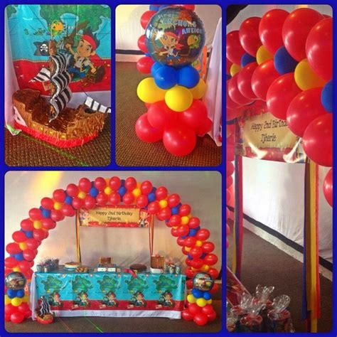 jake and the neverland decorations jake the neverland 2nd birthday decor arch and