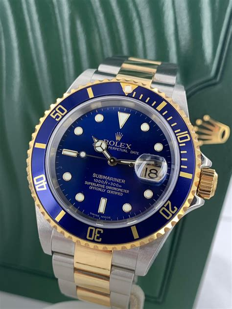 ROLEX SUBMARINER 18CT GOLD AND STEEL 16613 - Carr Watches